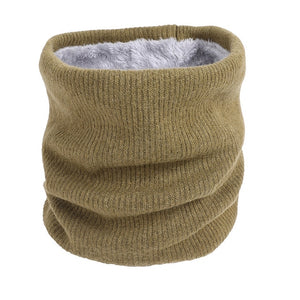Unisex Winter Men Women Warm Knitted Ring Scarves Thick Elastic Knit Mufflers Children Neck Warmer Boys Girl Plush Scarf Collar