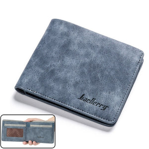 Luxury Designer Mens Wallet Leather PU Bifold Short Wallets Men Hasp Vintage Male Purse Coin Pouch Multi-functional Cards Wallet
