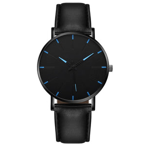 2021 Minimalist Men's Fashion Ultra Thin Watches Simple Men Business Stainless Steel Mesh Belt Quartz Watch Relogio Masculino