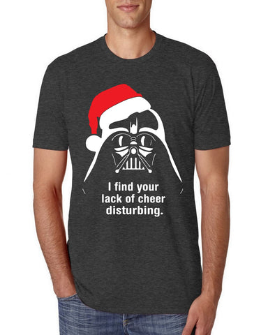 Vader Lack Of Cheer Xmas Ugly Christmas Tri Blend T Shirt