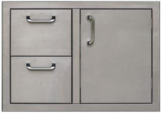 PCM 260 Series Single Door Double Drawer 30 Inch Right