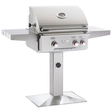 "24"" American Outdoor Grill T-Series On Patio Post Mount Grill w/ Rotisserie, Liquid Propane"