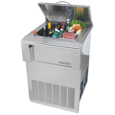 Alfresco Drop In Refrigerator w/ Cart