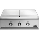 "30"" DCS Liberty Built-In Griddle & Dual Side Burner, Liquid Propane"