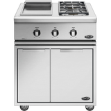 "30"" DCS Liberty Freestanding Griddle & Dual Side Burner on Cart, Natural Gas"