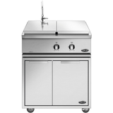"30"" DCS Liberty Freestanding Dual Side Burner & Sink on Cart, Natural Gas"