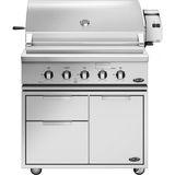 "36"" DCS Freestanding Grill w/ Rotisserie on CAD Cart, Natural Gas"