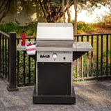 "TEC 26"" Patio FR Freestanding Infrared Gas Grill on Black Pedestal, Liquid Propane"