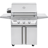 "30"" Twin Eagles Freestanding Gas Grill w/ Infrared Rotisserie on Double Door Cart, Natural Gas"