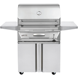 "30"" Twin Eagles Freestanding Charcoal Grill on Double Door Cart"