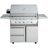 "36"" Twin Eagles Freestanding Gas Grill on Cart w/ Single Door Plus Storage Drawers, Liquid Propane"