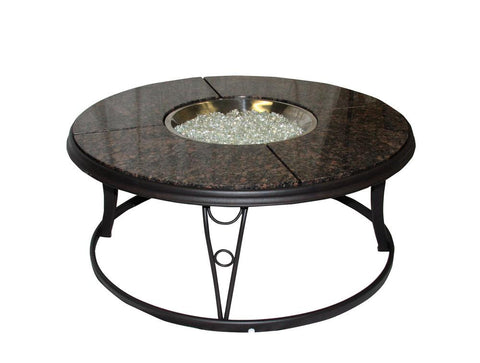 The Outdoor GreatRoom Co 42 Inch Granite Top Fire Pit Table