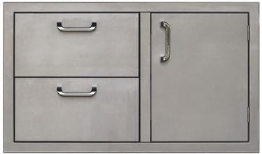 PCM 260 Series Single Door Double Drawer 36 Inch Right