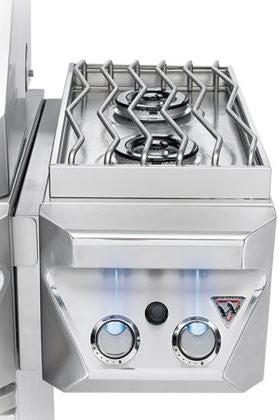Twin Eagles 13-Inch Freestanding Grill Attached Double Side Burners Propane