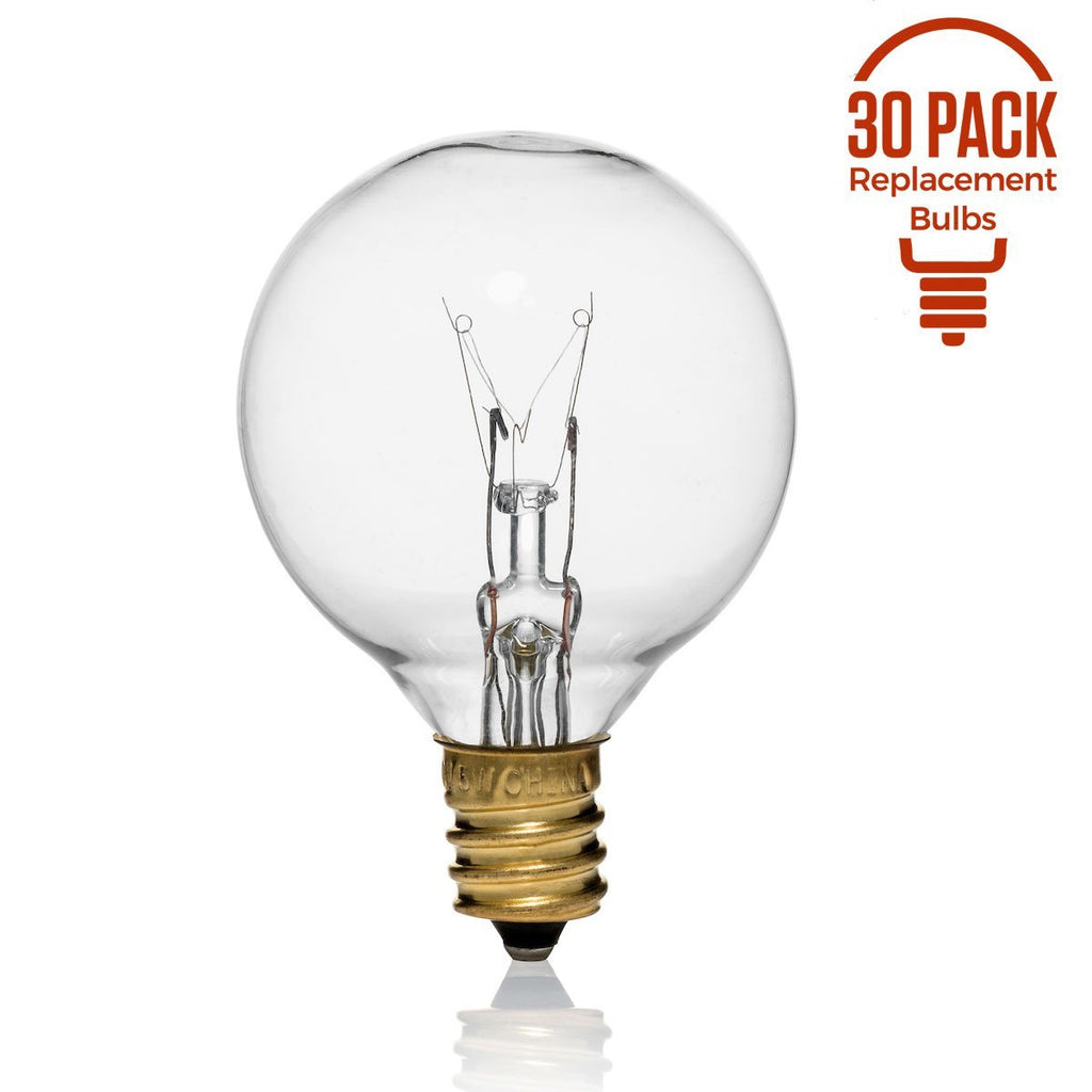 30 Pack of 5 Watt G40 Replacement Bulbs