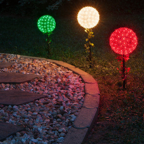 Clear starlight sphere stake outdoor lighting store clear starlight sphere stake aloadofball Choice Image