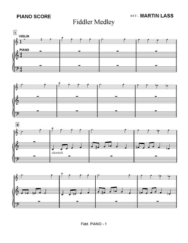 Fiddler on the Roof - sheet music download