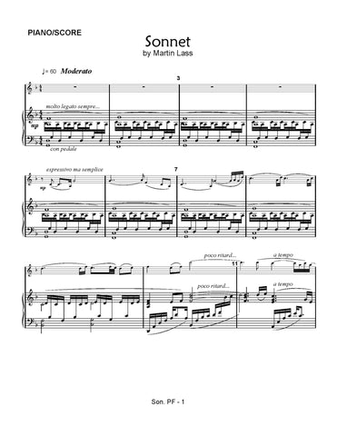 Sonnet - sheet music download