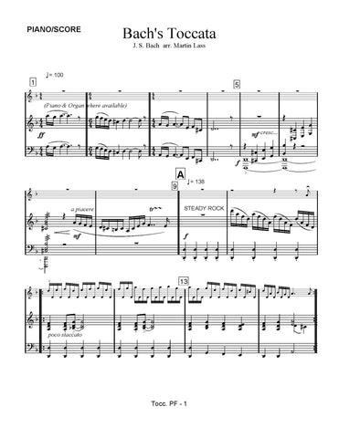 Bach's Toccata - sheet music download