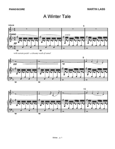 A Winter Tale - sheet music download