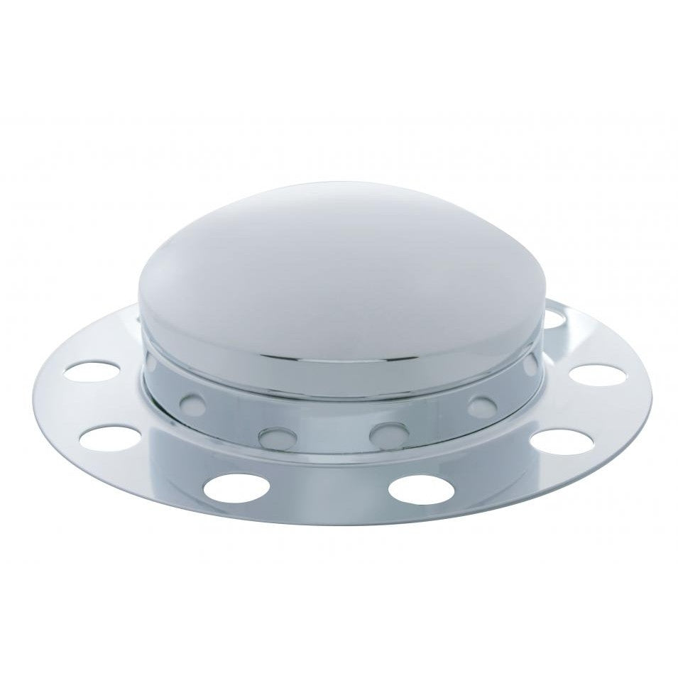 Dome Front Axle Cover 3 Piece Kit - Steel/Aluminum Wheel