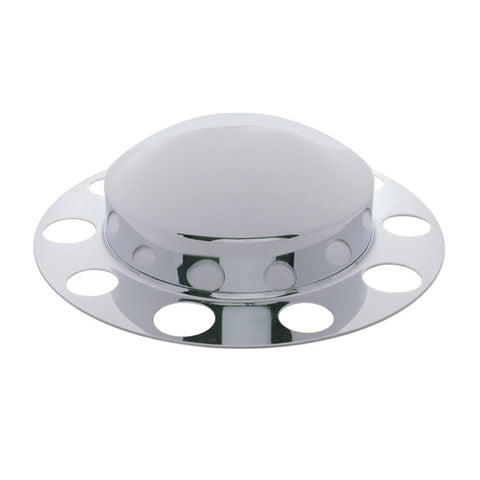 Dome Front Axle Cover 2 Piece Kit - Aluminum Wheel