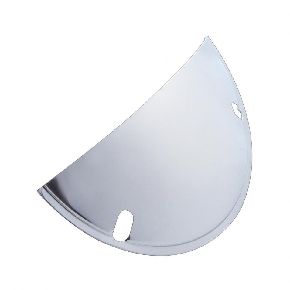 Round Chrome Headlight Shield 7""