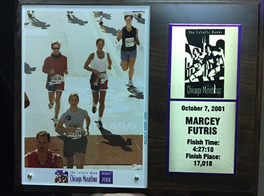 Chicago Marathon Finishers Plaque from 2001