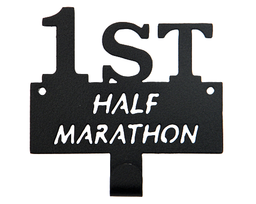 First Half Marathon Runner Black 1 Hook Medal Display Hanger