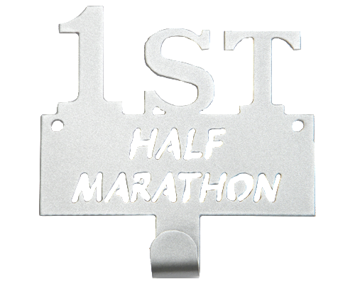 First Half Marathon Runner Silver 1 Hook Medal Display Hanger