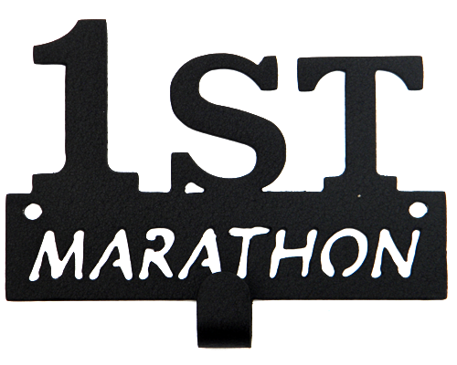 First Marathon Runner Black 1 Hook Medal Display Hanger
