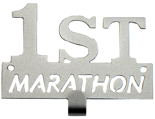 First Marathon Runner Silver 1 Hook Medal Display Hanger