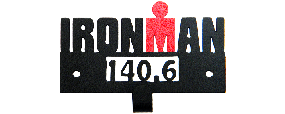 Ironman 140.6 with Red M Dot Logo - Medal Display