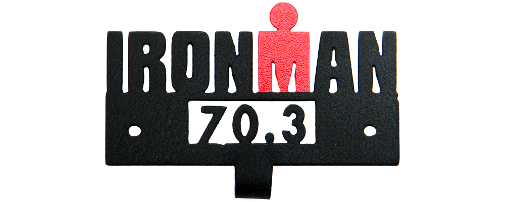 Ironman 70.3 with Red M Dot Logo - Medal Display