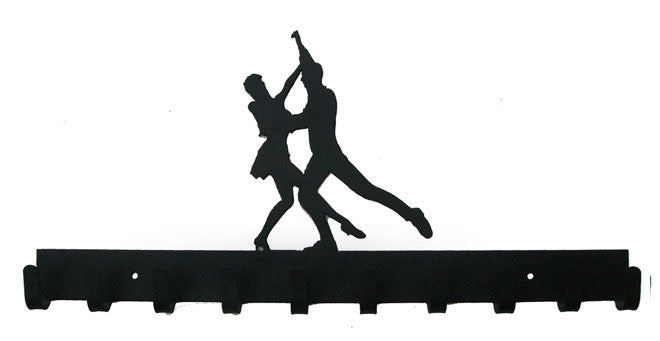 Ballroom Dancing Black 10 Hook Medal Display Hanger