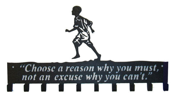 Choose a Reason Why you Must - Black Medal Hanger