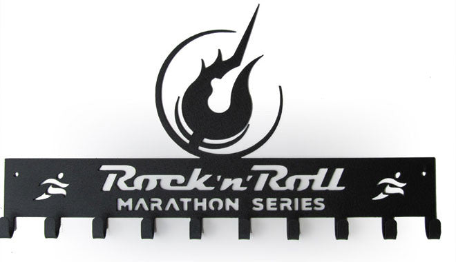 Rock 'n' Roll Marathon Series Logo - Black  Medal Hanger