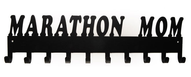 Marathon Mom Black 10 Hook Medal Display Hanger