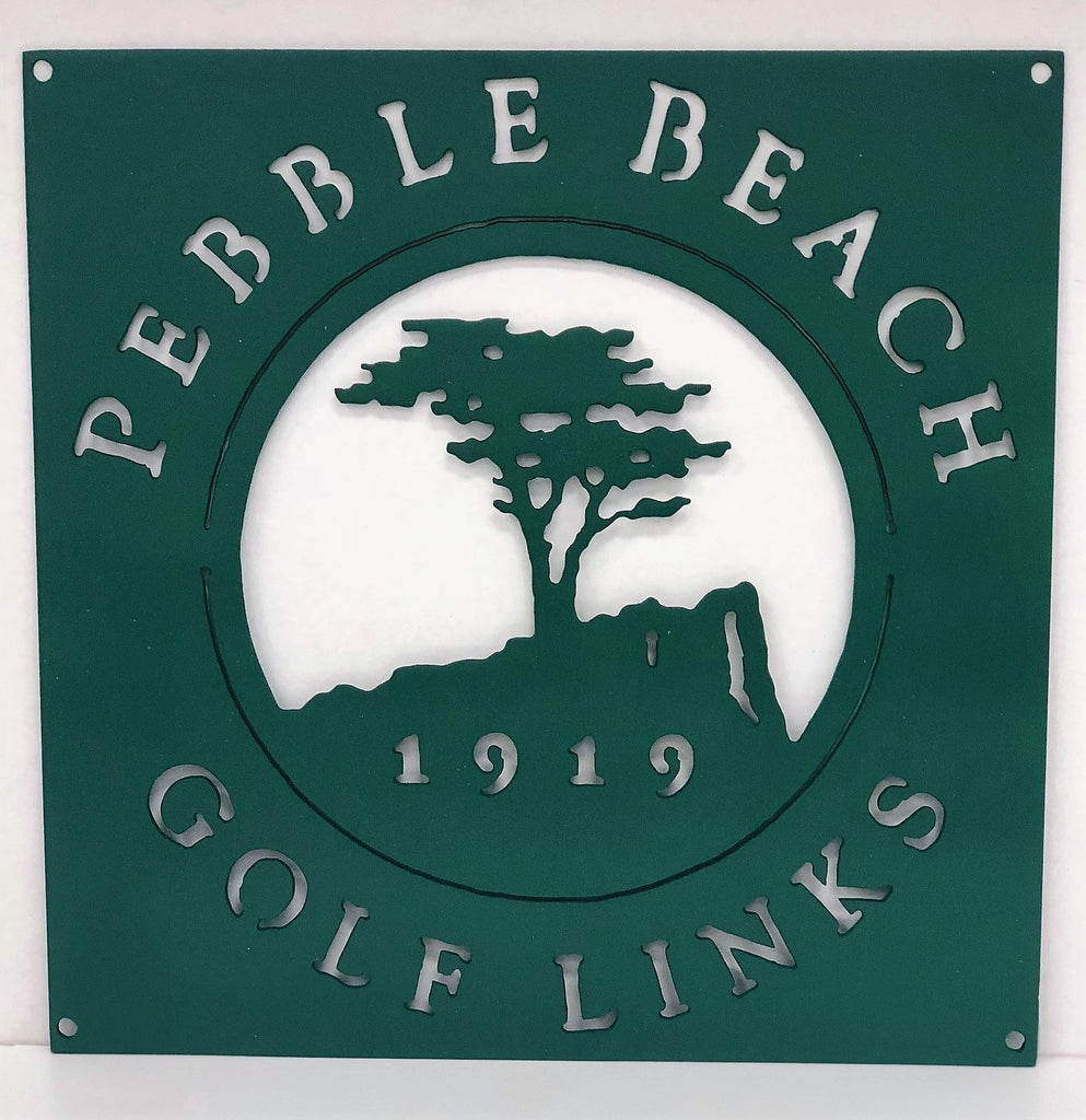 Pebble Beach Green Golf Logo Example