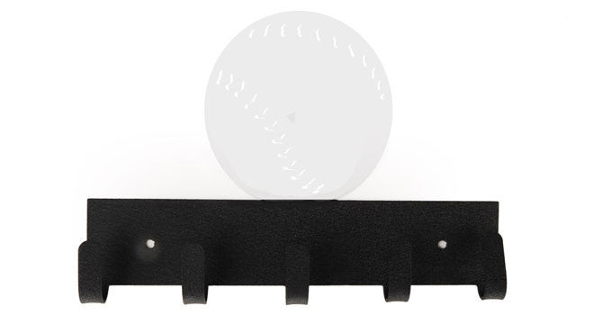 Baseball Black & White 5 Hook Medal Display Hanger