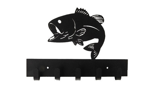Fishing Black 5 Hook Medal Display Hanger