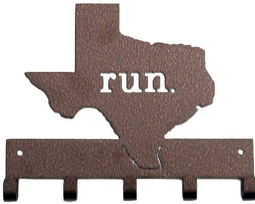 Run State of Texas Bronze 5 Hook Medal Display Hanger