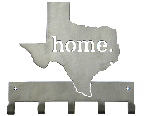 Texas Home Silver 5 Hook Key, Jacket, Hat, Medal Hanger Custom