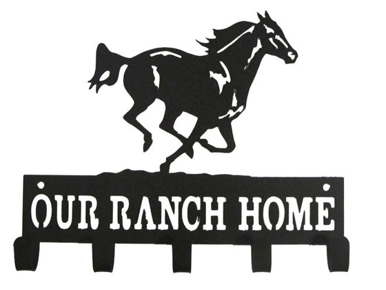 """Our Ranch Home"" with Running Horse - Medal Hanger"
