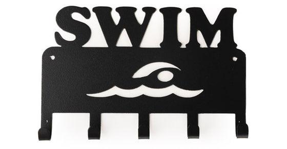 Swim Black 5 Hook Medal Display Hanger