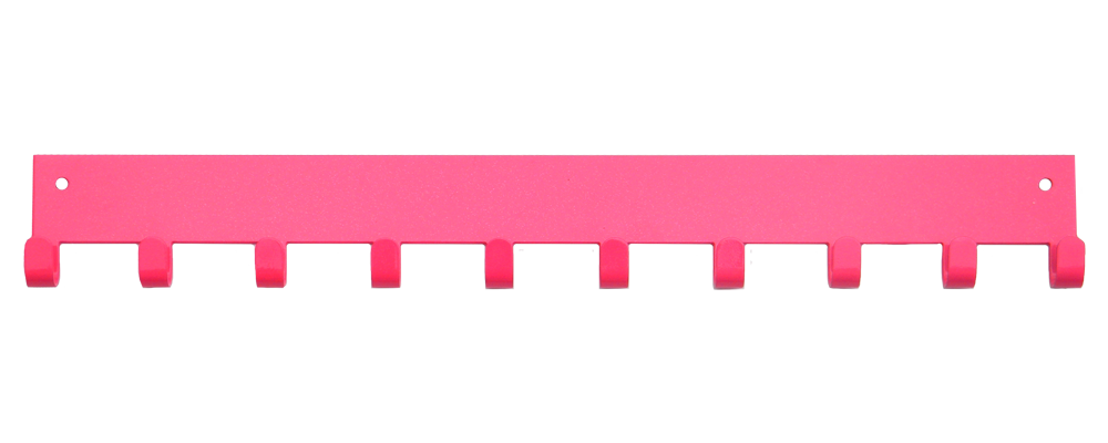 3rd Row Add-on Bar Pink Sparkle 10 Hook Medal Display Hanger