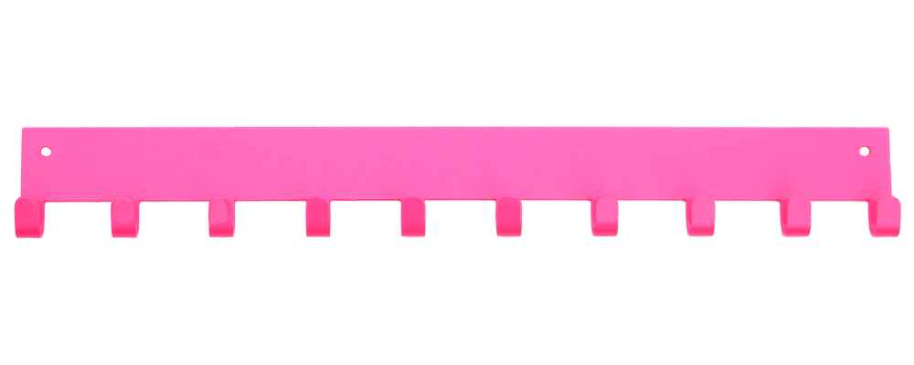 3rd Row Add-on Bar Pink 10 Hook Medal Display Hanger