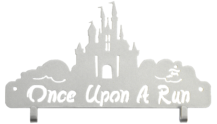 Disney Once Upon a Run runDisney Race Bib Holder Silver