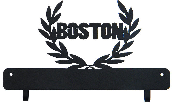 Boston Marathon Black Race Bib Display Holder