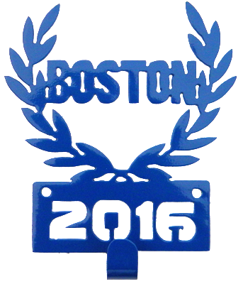 Boston Marathon 2016 1 Hook Blue Medal Display Hanger